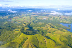 Aerial photo of the  coast of New Guinea Royalty Free Stock Image