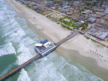 Aerial photo of Daytona Beach FL pier Royalty Free Stock Images