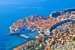 View of Dubrovnik. Aerial photo of Dubrovnik, Croatia stock images