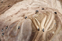 Aerial photo of earthwork Royalty Free Stock Photos