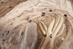 Aerial photo of earthwork Royalty Free Stock Photos