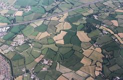 Aerial photo of the English Bristol countryside. The city in the background. Bristol, UK stock photography