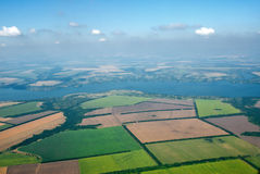 Aerial photo of Farmland Royalty Free Stock Images