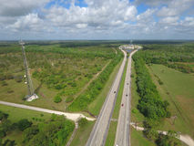 Aerial photo of the Florida Turnpike Royalty Free Stock Photography
