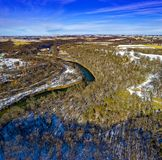 Aerial Photo Of Forest royalty free stock photos