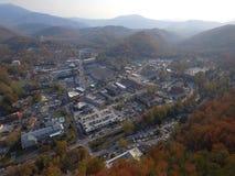 Aerial photo Gatlinburg Stock Images