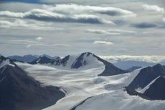 Aerial photo glacier Stock Photos