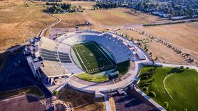 Aerial Photo of Gray and White Stadium Stock Photography
