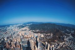 Aerial Photo of High Rise Buildingss Royalty Free Stock Photos