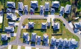Aerial photo of houses in Sautron, Loire Atlantique Royalty Free Stock Photo