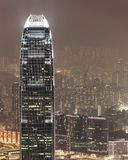 Aerial photo of IFC hong kong at night Royalty Free Stock Image