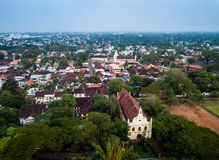 Aerial photo of Kochi in India. Birds eye view photo of Kochi in India royalty free stock images