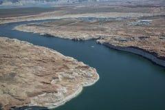 Aerial Photo, Lake Powell Stock Photos
