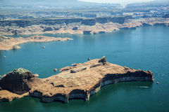 Aerial Photo, Lake Powell Stock Images