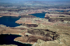 Aerial Photo, Lake Powell Royalty Free Stock Photography