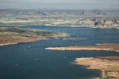 Aerial Photo, Lake Powell Stock Image