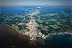 Aerial Photo of Land Form Royalty Free Stock Photo