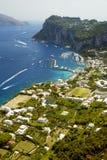 Aerial photo of Marina Grande on Capri island, Campania, Italy Royalty Free Stock Photo