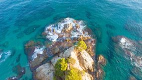 Aerial view of the mediterranean coast in Lloret de Mar. Aerial photo of the mediterranean coast in Lloret de Mar, Spain Royalty Free Stock Photography