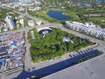 Aerial photo Miami BEach Botanical Gardens Stock Photos