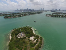 Aerial photo Monument Island Miami Beach Royalty Free Stock Photography