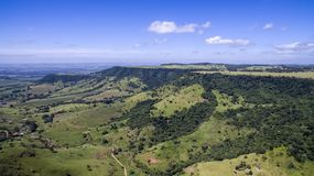 Aerial photo of Mountain landscape in São Pedro, SP, Brazil. Aerial photo of Mountain with blue sky landscape in São Pedro, SP, Brazil Royalty Free Stock Images