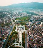 Aerial photo of National Palace of Culture in Sofia royalty free stock photos