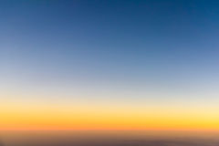 Aerial Photo Of Ocean Sunset Royalty Free Stock Photos