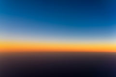 Aerial Photo Of Ocean Sunset Royalty Free Stock Photo