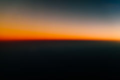 Aerial Photo Of Ocean Sunset Stock Images