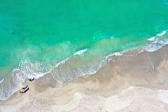 Aerial Photo of Ocean Surf royalty free stock images