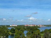 Free Aerial Photo Of The Grand Floridian Hotel From  The Monorail At  Walt Disney World Resorts In Orlando, FL Stock Image - 192469181