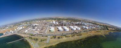 Aerial photo of an oil refinery Stock Photography