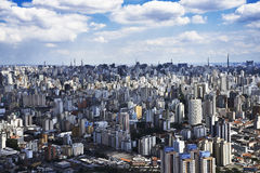 Aerial photo of São Paulo city Royalty Free Stock Photography