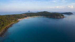 Aerial photo of Perhentian island in Malaysia Stock Photography