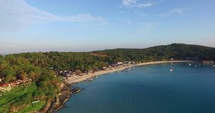 Aerial footage of Perhentian island in Malaysia stock video footage