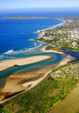 Aerial photo of Plettenberg Bay in the Garden Route, South Africa Royalty Free Stock Images