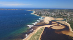Aerial photo of Plettenberg Bay in South Africa Royalty Free Stock Photo