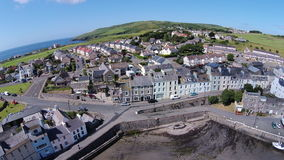 Aerial photo of port st mary Royalty Free Stock Image