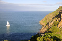 Aerial photo of Robberg Nature Reserve, Garden Route, South Africa Stock Images