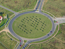 Aerial photo of a roundabout Royalty Free Stock Photo