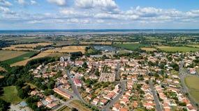 Aerial photo of Saint Viaud village in Loire Atlantique Stock Image