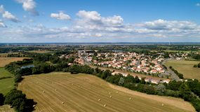 Aerial photo of Saint Viaud village in Loire Atlantique royalty free stock photography