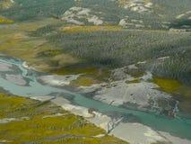 Aerial photo sandbanks Stock Photography