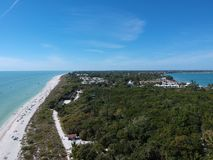 Aerial photo Sanibel beach stock image