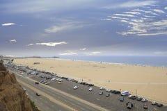 Aerial photo Santa Monica Beach Royalty Free Stock Images