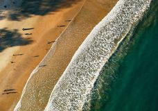 Aerial Photo of Sea Shore stock photography