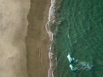 Aerial Photo of Seashore stock images