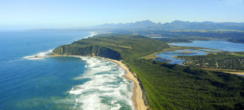 Aerial photo of Sedgefield, Garden Route, South Africa. Aerial photo of Sedgefield, Garden Route, Western Cape - South Africa Stock Images