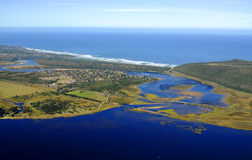 Aerial photo of Sedgefield, Garden Route, South Africa Royalty Free Stock Photography